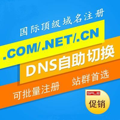 .COM/NET/CN等域名注冊 國際域名注冊 可直接解析即時生效 廠家直接注冊 滿10個送免備案空間 推薦學生分銷